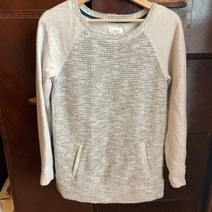 Gray and White Shimmer Tunic Lou & Grey XS